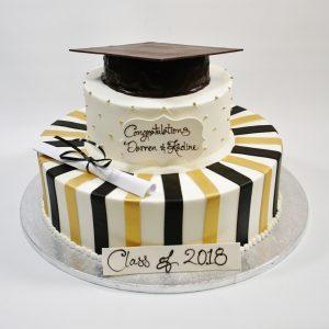 graduation-GOLD-BLACK-STRIPES-300x300
